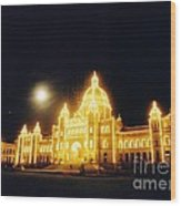Parliment Building Victoria Wood Print