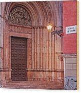 Parma Baptistery Doorway Wood Print