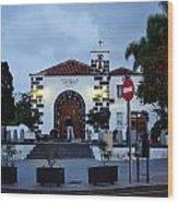 Parraquia De San Amaro. Puerto De La Cruz By Night Wood Print