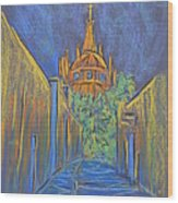 Parroquia From The Back Wood Print by Marcia Meade