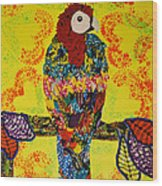 Parrot Oshun Wood Print