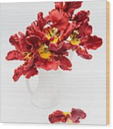 Parrot Tulips In A Milk Jug Wood Print