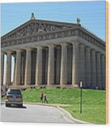 Parthenon In Nashville Wood Print by Paula Talbert