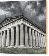 Parthenon Of Nashville Wood Print