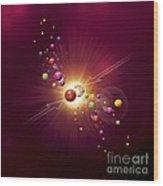 Particle Collision, Artwork Wood Print