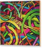 Particle Track Twenty Four Wood Print