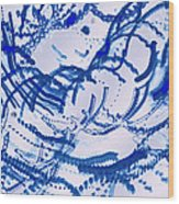 Particles Of Blue Wood Print