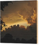 Parting Clouds Wood Print