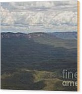 Partly Cloudy Day In The Blue Mountains Wood Print