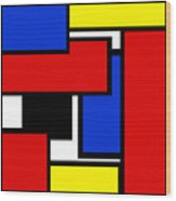 Partridge Family Abstract 1 C Square Wood Print