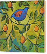 Partridge In A Pear Tree Wood Print