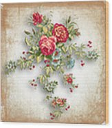 Party Of Roses  Wood Print