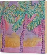 Party Palms Wood Print