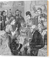 Party Toast, 1872 Wood Print