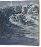 Party Wave At Jaws  Wood Print
