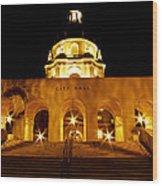 Pasadena City Hall Wood Print