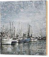 Pass Christian Harbor Wood Print
