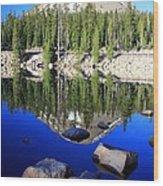 Pass Lake Wood Print