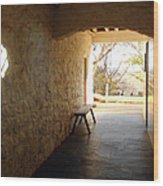 Passageway At Monticello Wood Print