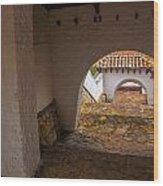 Passageway In Colonial Town Wood Print