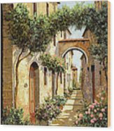 Passando Sotto L'arco Wood Print by Guido Borelli