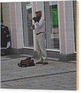 Passau Violinist Wood Print