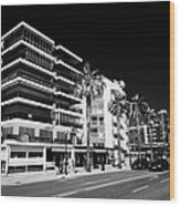 Passeig De Jaume 1 Seafront Road And Properties Salou Catalonia Spain Wood Print
