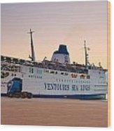 Passenger Port Piraeus. Wood Print