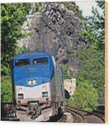 Passenger Train Locomotive Wood Print
