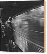 Passing By Wood Print