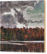Passing Storm Over Cary Lake Wood Print by David Patterson