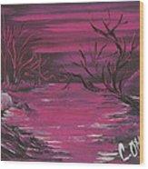 Passion Falls Wood Print