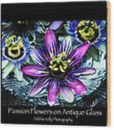 Passion Flower Poster Wood Print