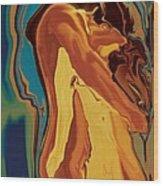 Passionate Kiss 2 2008 Wood Print