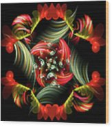 Passionate Love Bouquet Abstract Wood Print