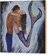Passionate Mermaid Wood Print