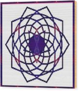 Passionate Purple Prayers Abstract Chakra Art By Omaste Witkowsk Wood Print
