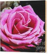 Passionate Rose Wood Print