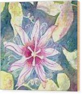 Passionflower Wood Print
