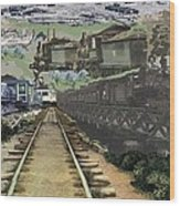 Past Century Trains Wood Print