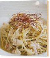 Pasta Food Wood Print