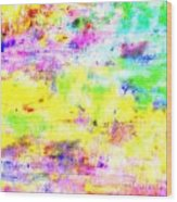 Pastel Abstract Patterns I Wood Print