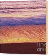 Pastel - Abstract Waves Rolling In During Sunset. Wood Print