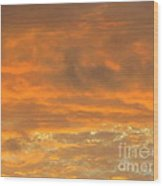 Pastel And Serene Sunset 2 Wood Print