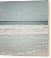 Pastel Beach Decor Of Gulf Of Mexico In Florida  Wood Print