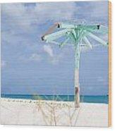 Pastel Beach Frame Wood Print