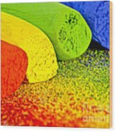 Pastel Chalks Wood Print