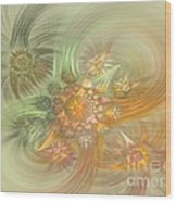 Pastel Delicate Pattern Wood Print