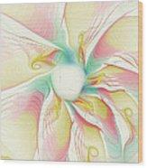 Pastel Flower Wood Print