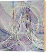 Pastel Fractal Wood Print
